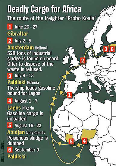 Deadly Cargo for Africa map